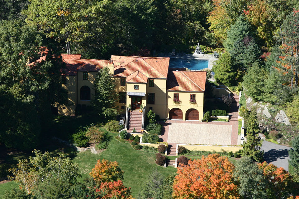 Westchester home builder - aerial view