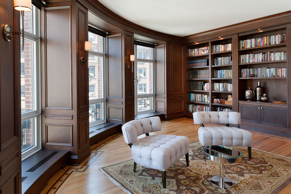 Custom woodwork and cabinetry in Manhattan apartment by The Shanahan Group