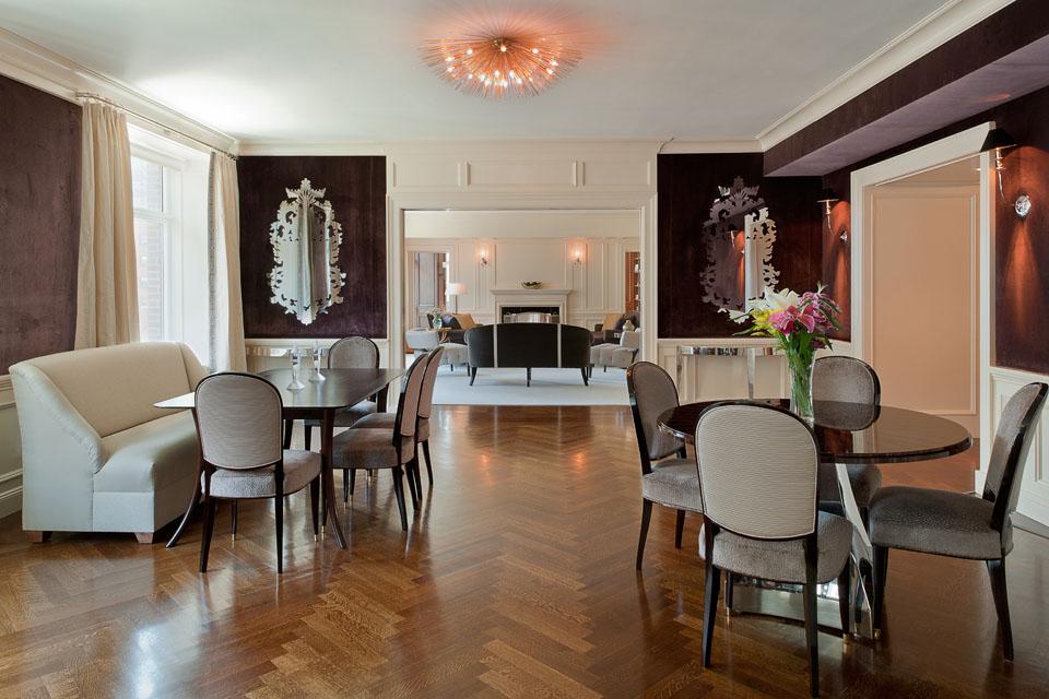 Custom inlaid flooring in Manhattan Apartment