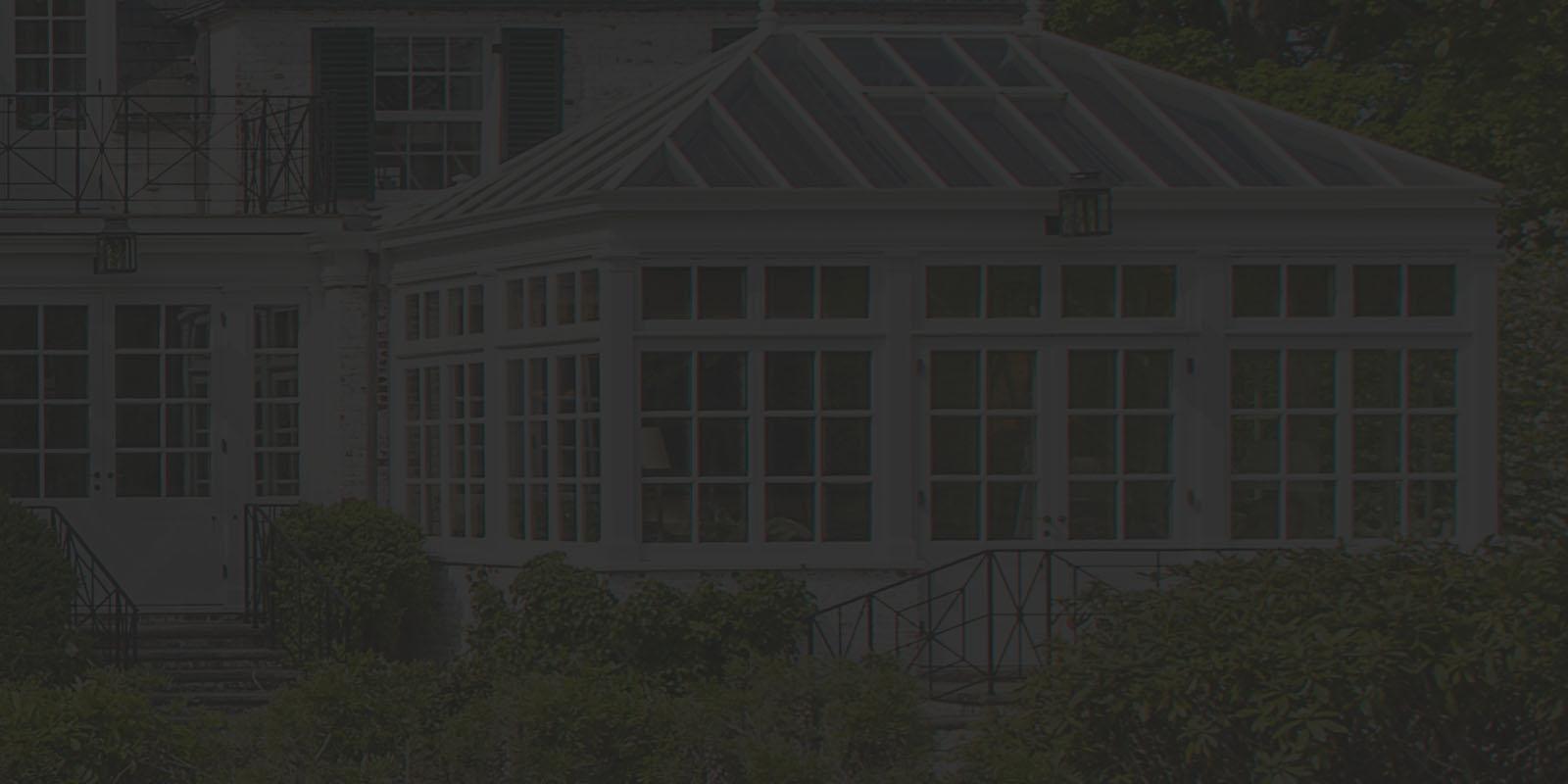 Greenhouse solarium on estate
